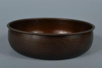 R6503: Japanese Copper Finish hammer pattern WASTE-WATER POT Kensui Tea Ceremony