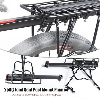 Bicycle Mountain Bike Rear Rack Seat Post Mount Pannier Luggage Carrier 4T