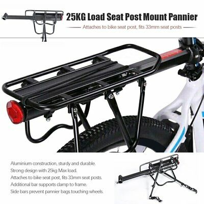 Bicycle Mountain Bike Rear Rack Seat Post Mount Pannier Luggage Carrier 5T