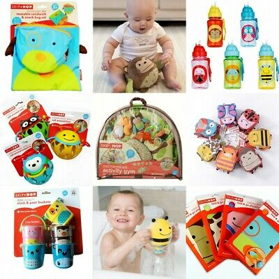 Skip Hop Baby Kid Child Toddler Safari Activity Rattle Mirror Soft Book Toy 0+