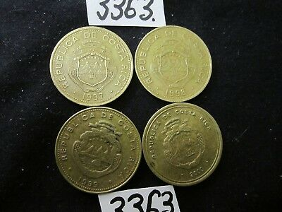 4  x assorted coins  COSTA RICA  Mar3363    37 gms