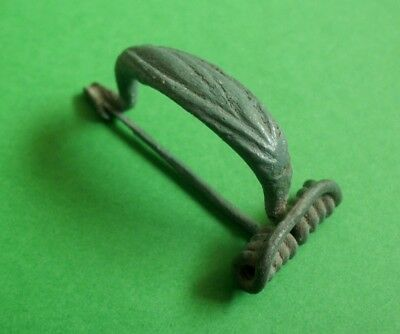 Rare La Tene Culture Bronze Fibula Brooch - Complete - Beautiful!