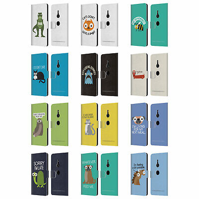 Official David Olenick Animals Leather Book Wallet Case Cover For Sony Phones 1