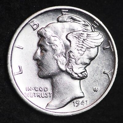 UNCIRCULATED 1941 S Mercury Silver Dime FREE SHIPPING