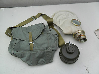 Russian Army Gas Mask With Filter And Bag