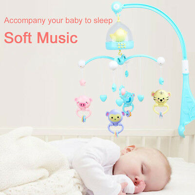 Musical Bed Crib Cot Mobile Dreams Nusery Lullaby Light for Baby