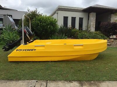Polycraft tuff tender 3m  with outboard motor