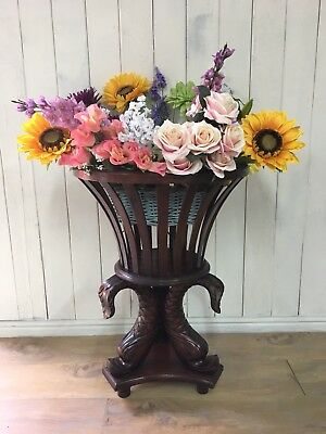 Mahogany Jardiniere, Antique Planter, Wooden Planter, Empire Style
