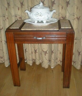 Retro French Marble Top Washstand/Side table/Dressing Table