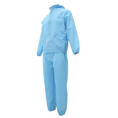 Overall Coveralls Protective Antistatic Suit Painting Decorating Lab Blue L