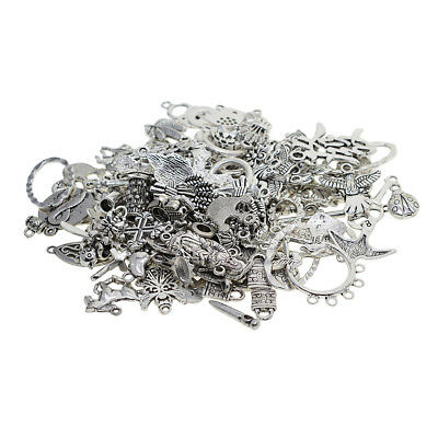 100gram Mix Tibetan Silver Charms Pendants Spacer Beads DIY Jewelry Findings