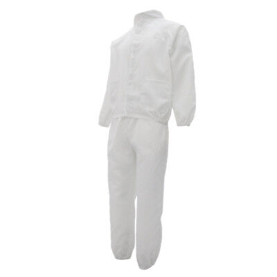 Washable Coveralls Painters Protective Overall Working Suit Dressing White L