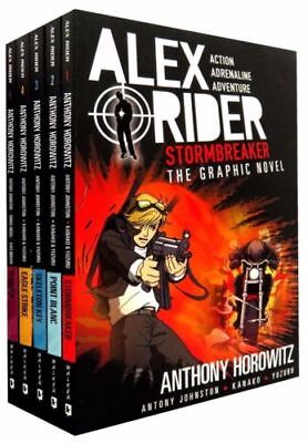 Alex Rider Graphic Novels Collection Anthony Horowitz 5 Books Set Stormbreaker