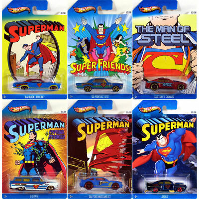 Hot Wheels 1:64 SUPERMAN Series Diecast Collectors Cars Complete Set Of 6 NEW