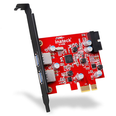 Inateck 2-Port PCI-E USB 3.0 Express Card, Mini Hub Controller Adapter, with...