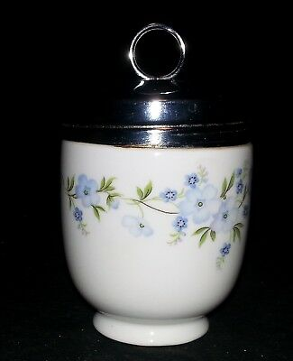 "Crown Staffordshire Egg Coddler - Rock Garden Pattern with Box 4"" Tall x 2 1/2"""