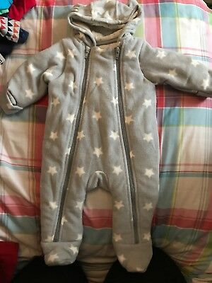 Marks And Spencer Snowsuit Stars 0-3 Months