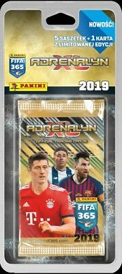 Tin Premium PANINI ADRENALYN XL FIFA 365 2019er version Starter blister Multip