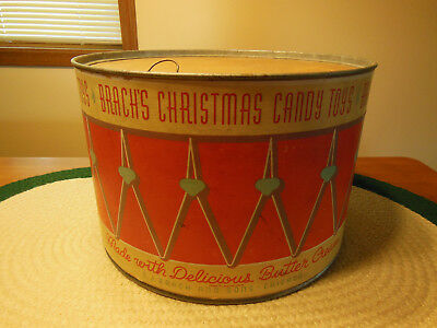 Vintage 1937 Brach's Butter Creme Christmas Candy Toys Store Drum Display