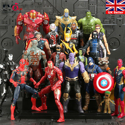 20Pcs Avengers 3 Infinity War Thanos SuperHero Kids Action Figures Toys Doll