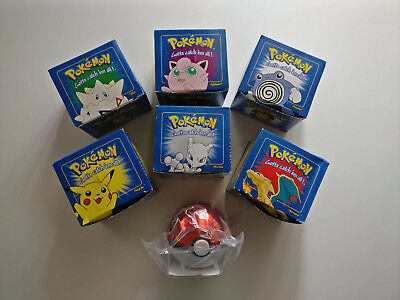 Lot 6 Boites Collector Pokemon, Pokeball Carte Plaque Or 23K, Neuf, Scelle, Rare