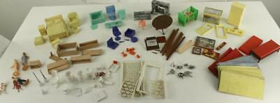VINTAGE Toy Lot Plastic DOLL HOUSE Furniture Decorations Accessories MARX IRWIN