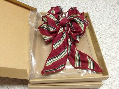 Longaberger Holiday Stripe Bow New In Box