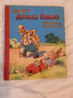 AESOPS ANIMAL FABLES annual  picture and story book C1948