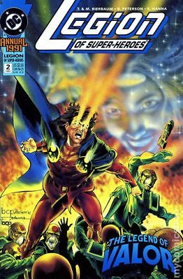 Legion of Super-Heroes Annual #2 1991 FN Stock Image