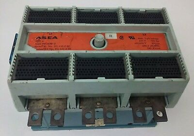 Asea, Eg630-2,contactor,size 6,3Ph,600V,400Hp,540A,sk418022-F,480V Coil,used, Eg
