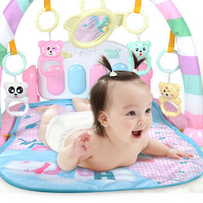3 in 1 Baby Gym Play Mat Lay & Play Fitness Music And Lights Fun Piano Girls Boy