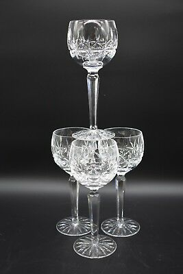 """(4) Waterford Irish Cut Crystal Rosslare 4 3/4"""" Champagne/Sherbet Glasses"""
