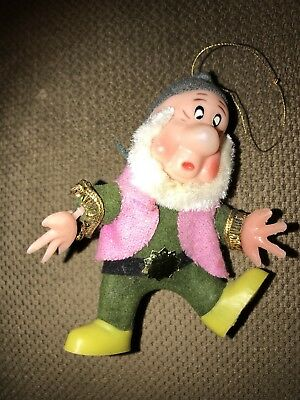 Sneezy Character Christmas Ornament—Walt Disney Productions—Made in Hong Kong