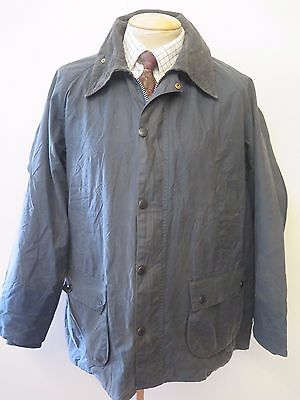 """A105 Barbour Bedale Waxed jacket - L 44"""" Euro 54 in Blue"""