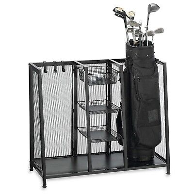 Exceptionnel Golf Organizer Bag Storage Rack Accessories Holder Club Garage Suncast Metal