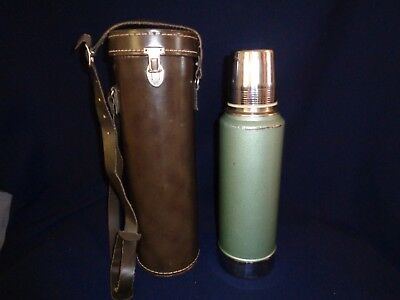 Stanley Thermos With Leather Case, Aladdin Thermos, Vintage, Immaculate Interior
