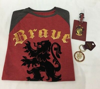 Universal Studios Harry Potter Gryffindor T-Shirt, Luggage Tag, and Key Chain