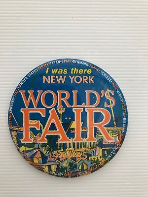 1964 New York Worlds Fair - I WAS THERE button - Rare