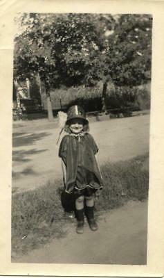 Darling little flapper girl all dressed up with hat 1920s snapshot