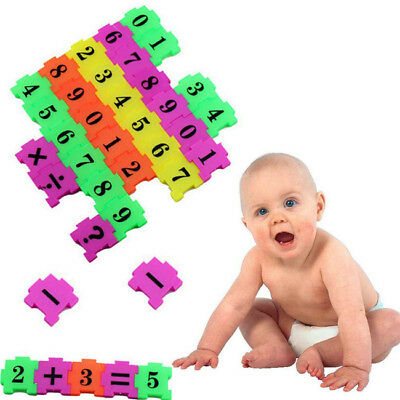 36X Number Alphabet Puzzle Math Early Educational Toy Gift Brain Teaser Kids 8C