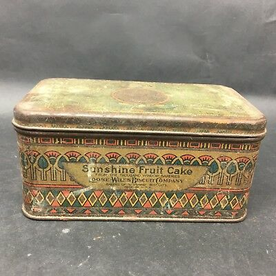 Sunshine Fruit Cake Tin Thousand Window Bakeries Loose Wiles Biscuit Company