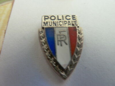 Pin's Police  Municipale  /  Rf  /  Superbe