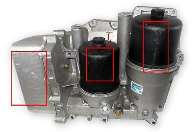 Paccar Integrated Lubrication Module For Oil Filtration & Temp Control Peterbilt