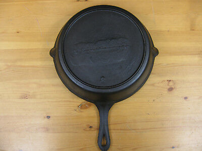 """Unmarked #8-10 1/4"""" Gate Marked 1890s Cast Iron Skillet"""