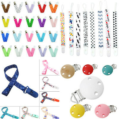 Baby Kids Boy Girls Dummy Pacifier Soother Nipple Leash Strap Chain Clips Holder