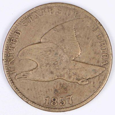 1857 Flying Eagle Copper-Nickel One Cent 1C