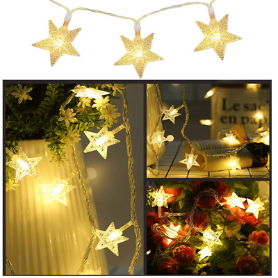 Star Fairy String Christmas Twinkle Lights 33Ft 80LED Decor Waterproof Light NEW