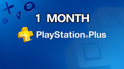Ps Plus 1 Month Trail - Ps4 - Ps3 -Ps Vita Playstation ( No Code )
