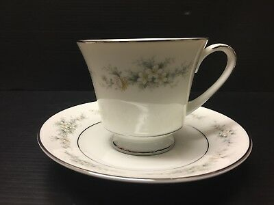 Noritake Cup & Saucer Set Of 1, Contemporary Fine China, Melissa 3080. A112 Jv