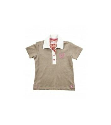 Kinder Poloshirt SWEETHEART Little Sister taupe 110/116